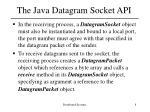 the java datagram socket api2