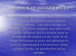 the book of ecclesiastes1