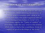 the book of ecclesiastes2