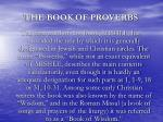 the book of proverbs1