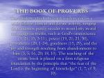 the book of proverbs3
