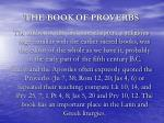 the book of proverbs6