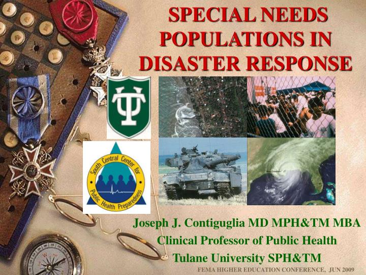 special needs populations in disaster response n.