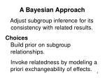 a bayesian approach