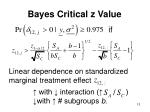 bayes critical z value