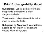 prior exchangeability model