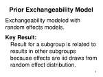prior exchangeability model1