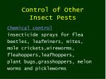 control of other insect pests