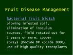 fruit disease management