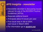 apg insights newsletter