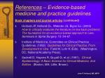 references evidence based medicine and practice guidelines2