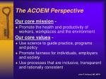 the acoem perspective2