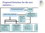 proposed structure for the new initiative