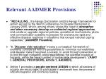 relevant aadmer provisions