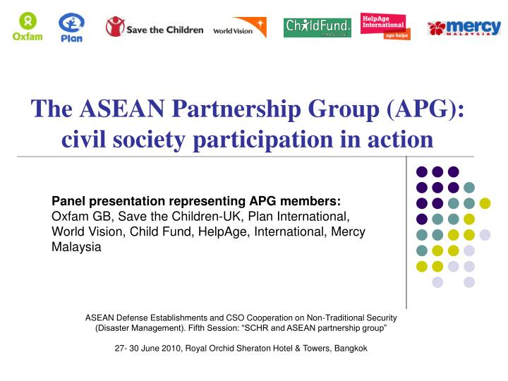 the asean partnership group apg civil society participation in action n.
