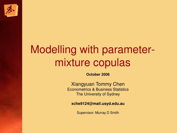 modelling with parameter mixture copulas n.