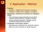 v application method