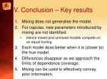v conclusion key results