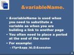 variablename