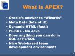 what is apex