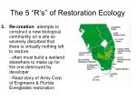 the 5 r s of restoration ecology4