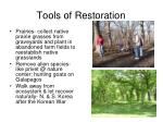 tools of restoration