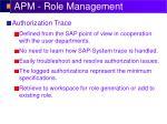 apm role management