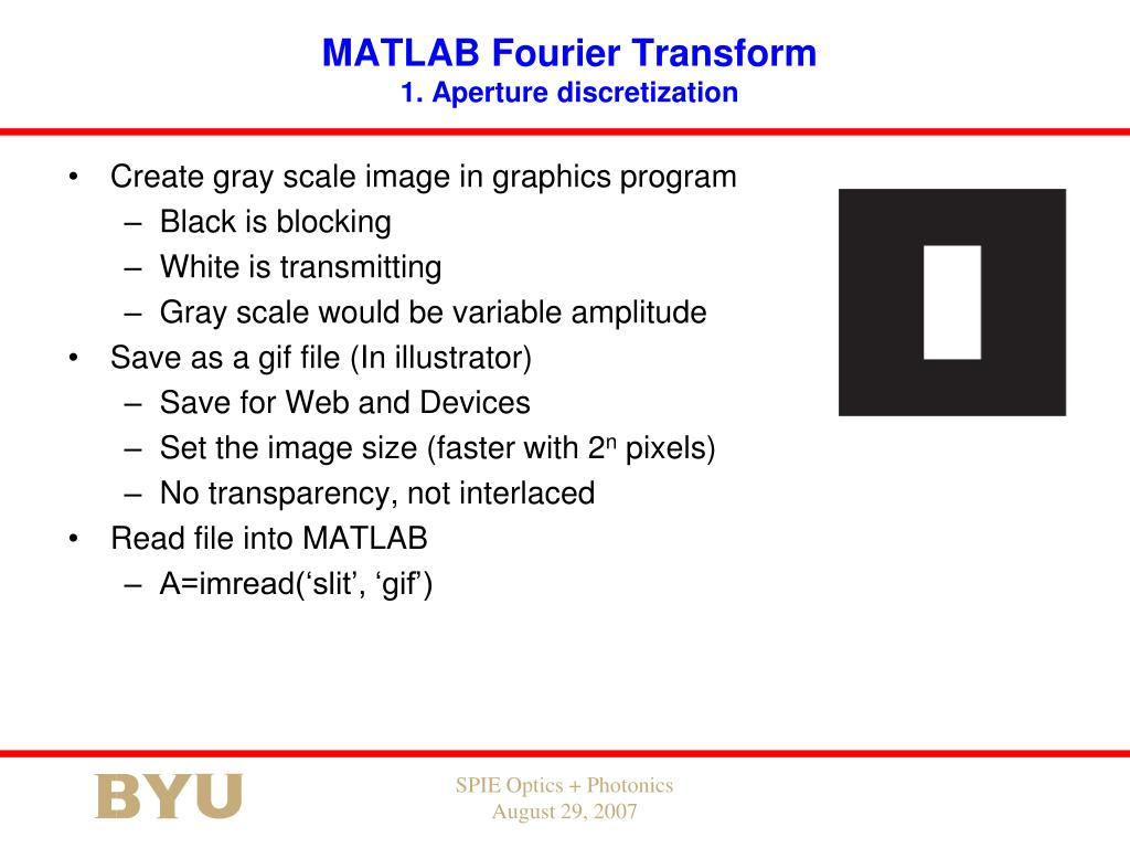 PPT - Using MATLAB to Compute Diffraction Patterns of