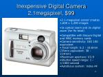 inexpensive digital camera 2 1megapixel 99