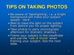 tips on taking photos