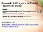 desarrollo del programa de estudio documentos claves