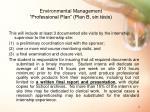 environmental management professional plan plan b sin t sis2