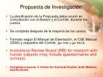 propuesta de investigaci n