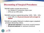discounting of surgical procedures