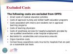 excluded costs