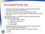 government no pay list