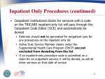 inpatient only procedures continued1