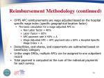 reimbursement methodology continued