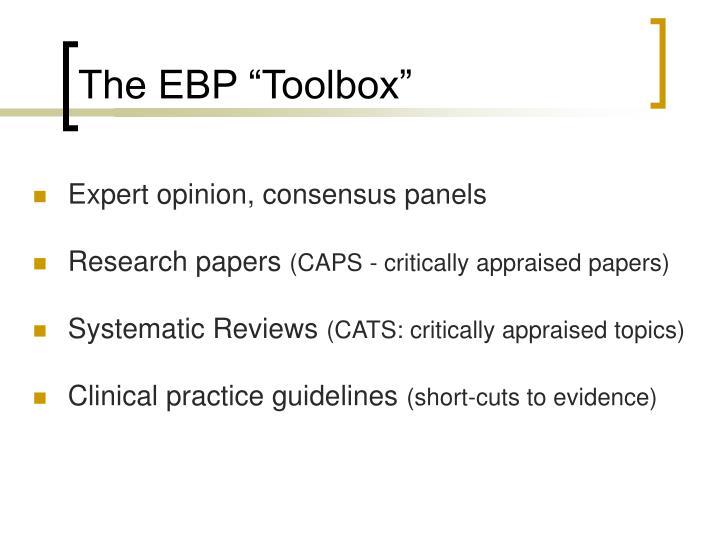 """The EBP """"Toolbox"""""""