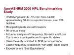 aon ashrm 2006 hpl benchmarking study