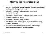 klasycy teorii strategii 1