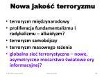nowa jako terroryzmu