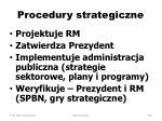 procedury strategiczne