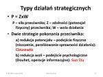typy dzia a strategicznych