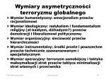 wymiary asymetryczno ci terroryzmu globalnego
