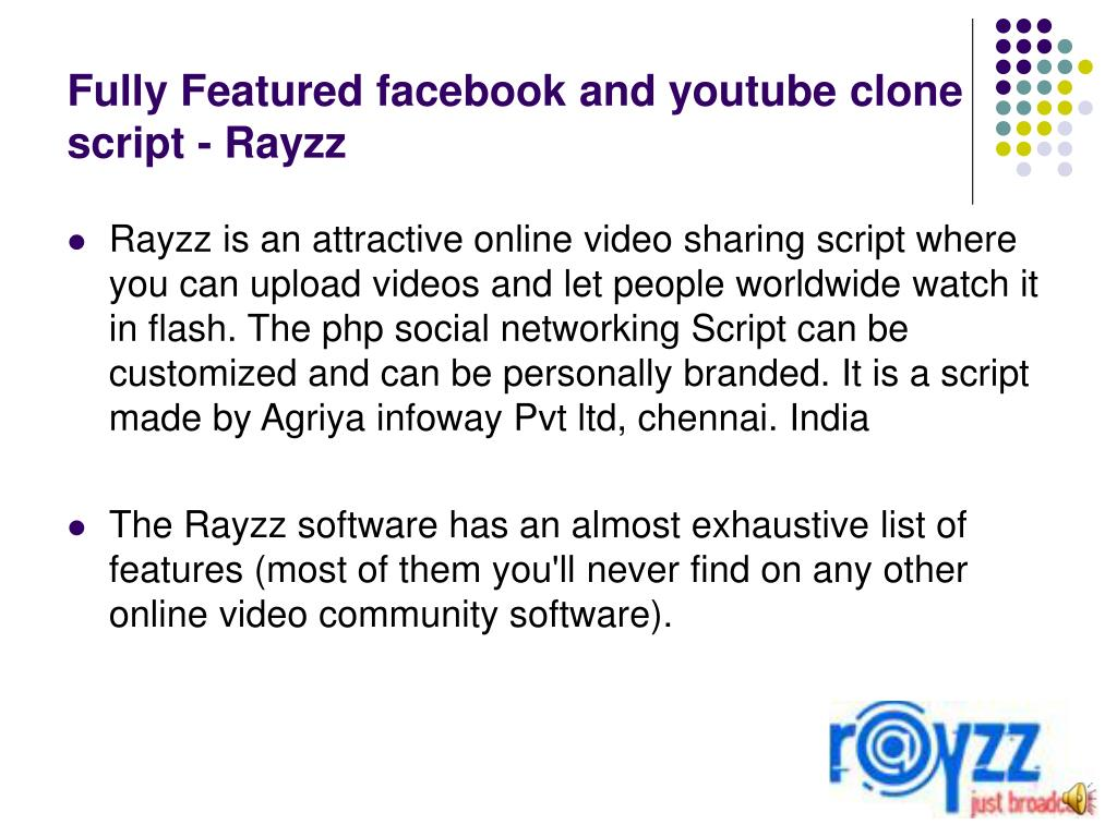Fully Featured facebook and youtube clone script - Rayzz