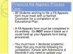 financial aid appeals process cont