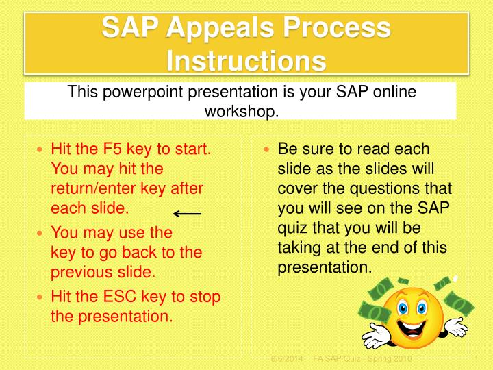 sap appeals process instructions n.