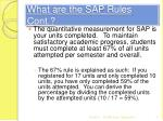 what are the sap rules cont