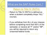 what are the sap rules cont1